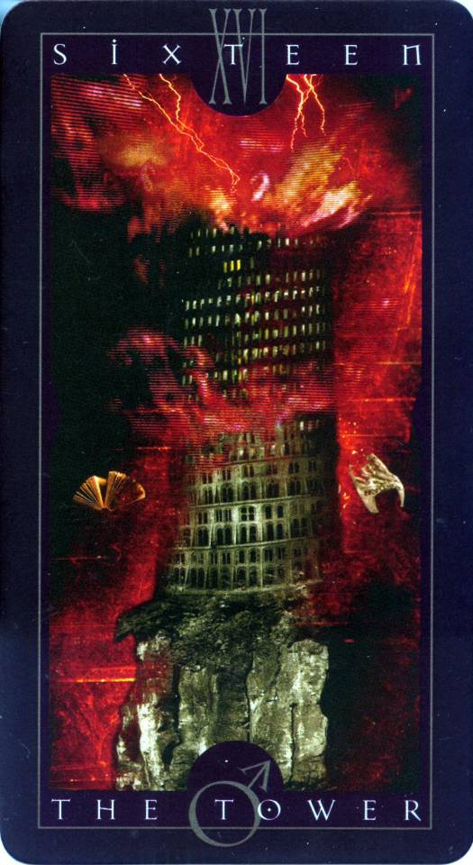 The Tower, a card from the Major Arcana