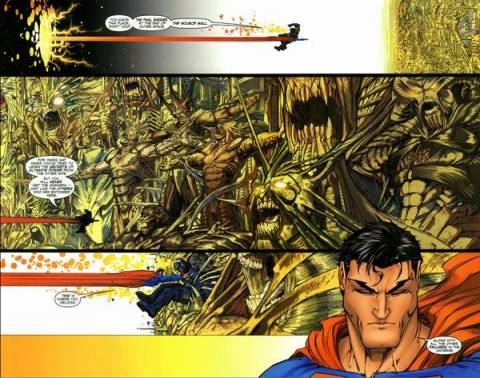 Superman and Darkseid at the Source Wall