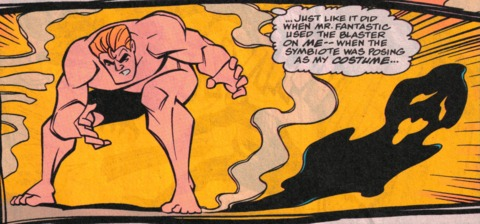 Without the symbiote, Eddie Brock is left naked, vulnerable, & easily susceptible to attack