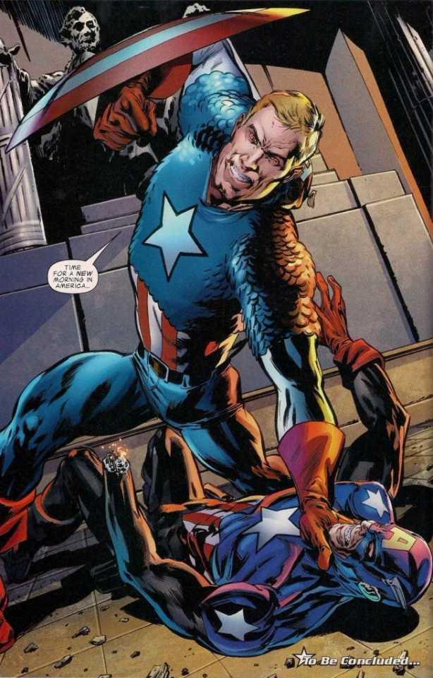 Red Skull nearly killing Bucky in Captain America's body.