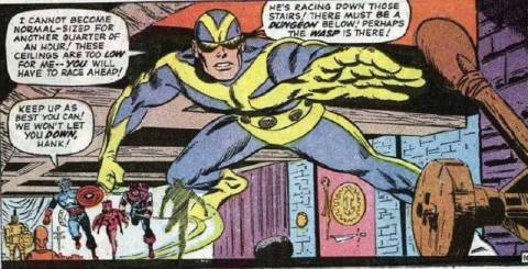 Back with the Avengers as Goliath.