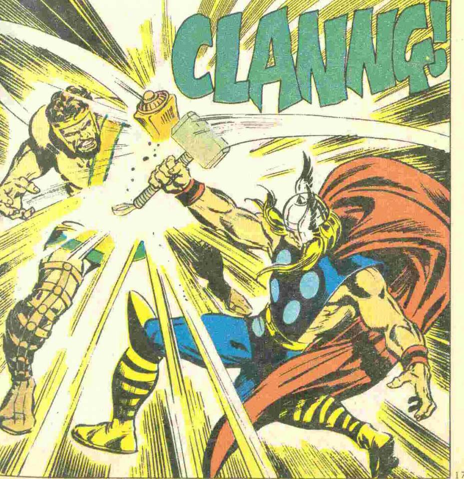 Hercules and Thor battle during the God War.