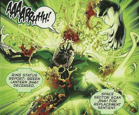 The death of Green Lantern 3461