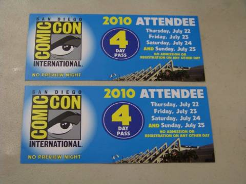 FREE tickets to San Diego Comic-Con 2010!