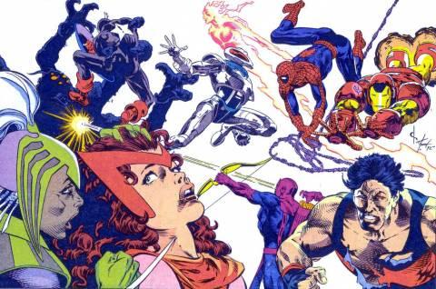 Deathweb versus the West Coast Avengers