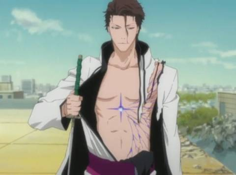 Aizen with Hōgyoku implanted