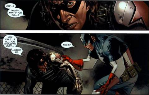 Bucky is unable to accept what he has become