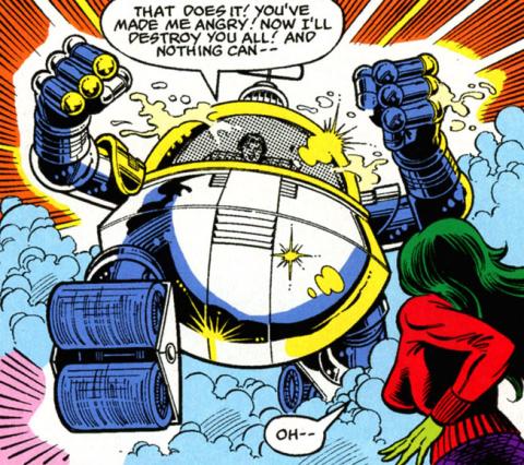 Mechano-Marauder vs. the Avengers