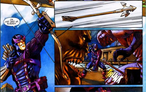 Hawkeye begins to lose his aim.