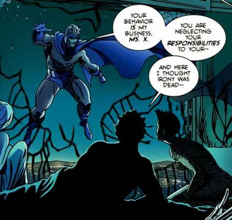 Magneto scolds Stacy X