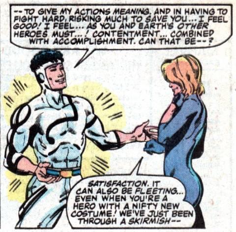 Has superhero costume when fighting alongside Dazzler