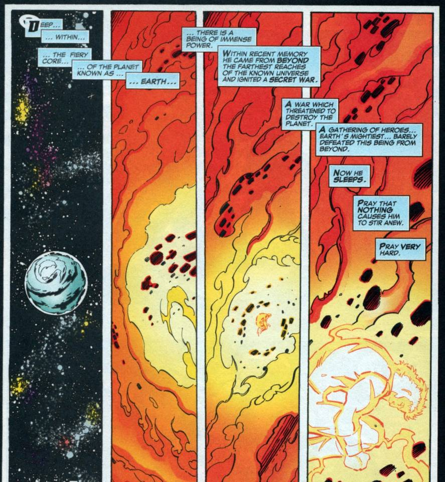 Earth-1298 Beyonder imprisoned in the center of the Earth