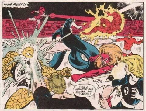 Titania attacks the Invisible Woman