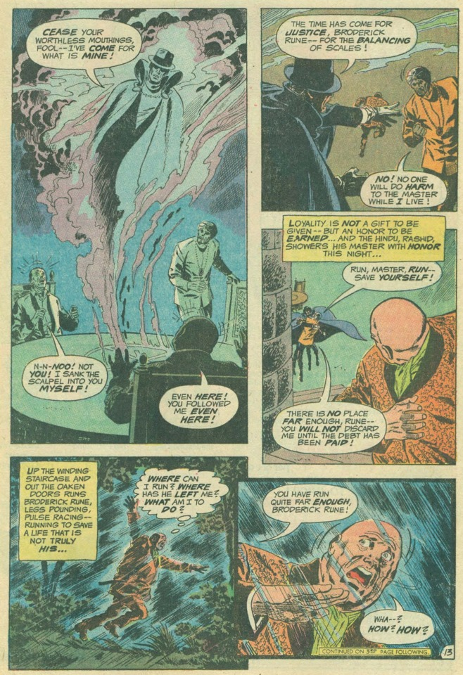 This scene reminds me of an issue of Adventure comics featuring the Spectre!...stay tuned for that review!