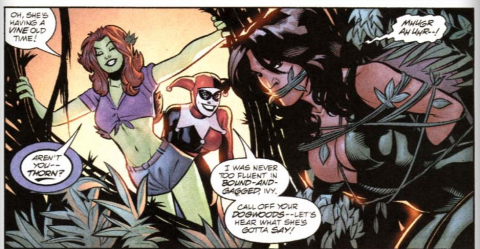 Defeated by Harley and Ivy
