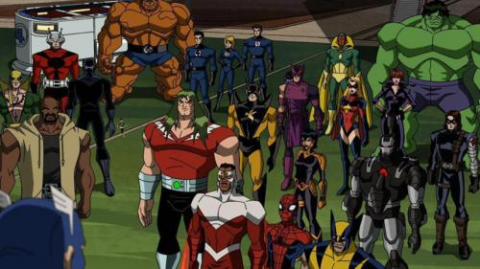 The various guest stars and reserve Avengers