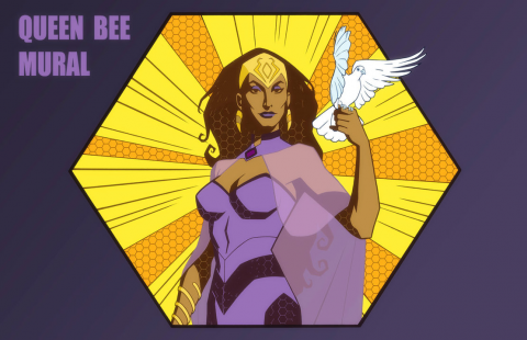 Queen Bee in the animated series