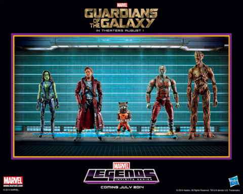 Guardians figures by Hasbro