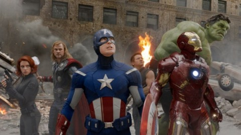 The cast of the Avengers movie