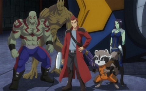 The Guardians in Marvel Disk Wars