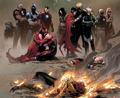 The Avengers mourn Vision 2.0 and Stature