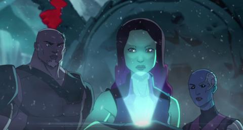 Korath with Gamora and Nebula