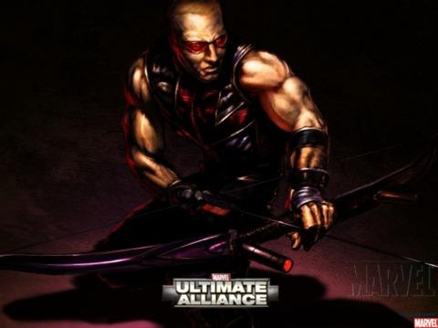 Hawkeye in Ultimte Alliance