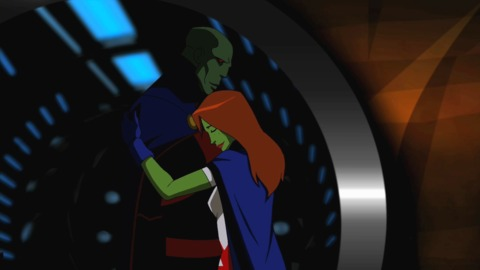 Martian Manhunter with Miss Martian