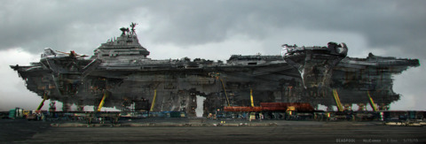The decommissioned Helicarrier