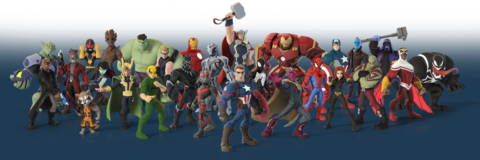 The Avengers and other Marvel characters