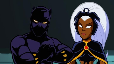 Black Panther and Storm in Super Hero Squad