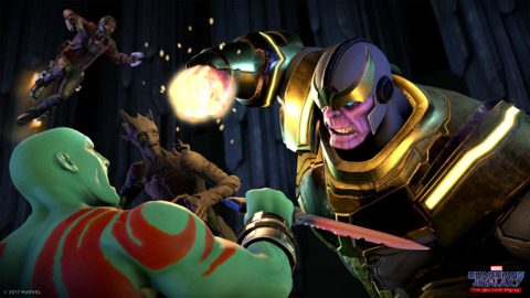 Thanos in the Guardians of the Galaxy game series