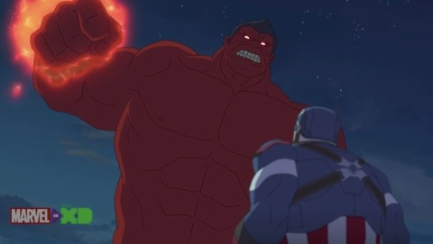 Red Hulk after absorbing a second gamma dose