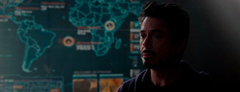 The map in Iron Man 2