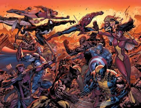 The New Avengers vs. the Dark Avengers
