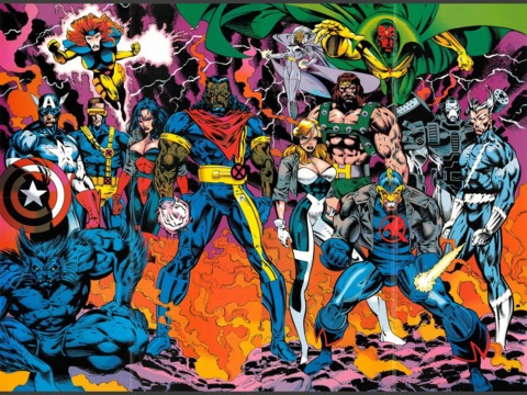 The Avengers and X-Men united