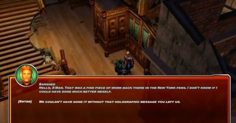 Speaking with Banshee at the mansion
