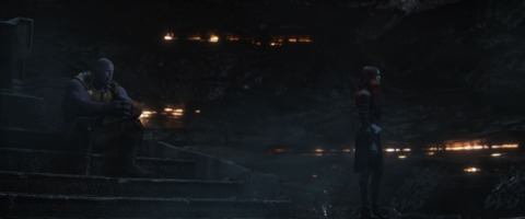 Thanos and Gamora