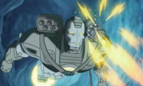 Tony in the War Machine armor