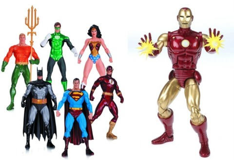 Alex Ross figures from DC Direct and Hasbro