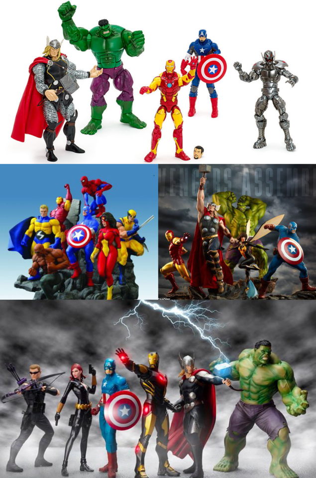 Figures from Hasbro and statues from Diamond, Sideshow and Kotobukiya