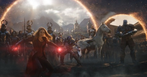 Scarlet Witch at the final battle