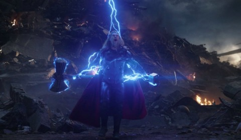 Thor with Stormbreaker and Mjolnir