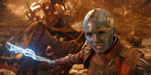 Nebula during the battle on Titan