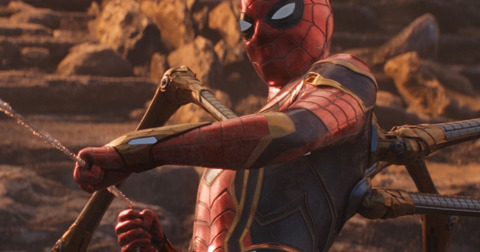 The Iron Spider suit in the movies
