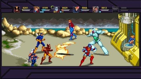 Nimrod in the X-Men arcade game