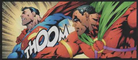 Knocking back Superman