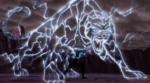 Azari creating a Lightning Panther.