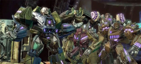 The Combaticons in Fall of Cybertron