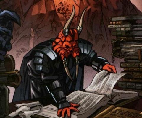 Wyyrlok reading a Sith tome.